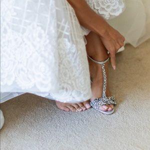Silver Badgley Mischka heels